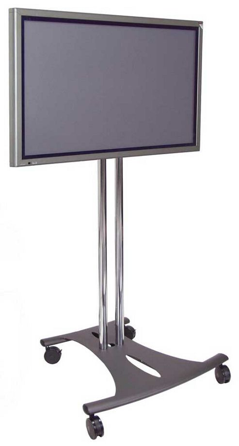 Premier Mounts Floor Stand with tilt and castors - 60 inch Poles