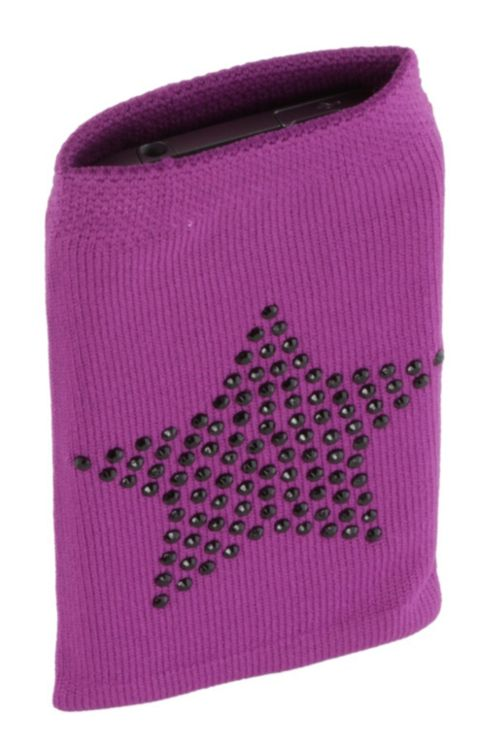 Trendz Fabric Sock for Universal Smartphone Devices - Purple Diamante Star