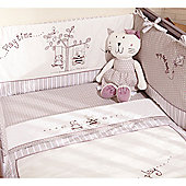 Izziwotnot Time To Play Cot/Bed Bumper - White