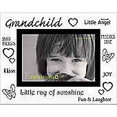 Sixtrees Moments Bevelled Glass Grand Child Photo Frame