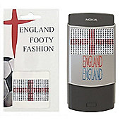 England Flag Bling Sticker