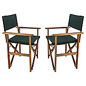 Director's Chair, Dark Green, 2 Pack