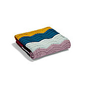 Mamas & Papas - Patternology - Wave Knitted Blanket - 70 x 90cm