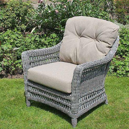 Bridgman All Seasons Ash Paddock Lounge Armchair with Cushion