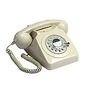 Protelx 746 Retro 1960's Style Rotary Dial Telephone in Ivory