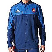 adidas France FFR Rugby RWC Anthem Jacket - Blue