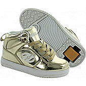 Heelys Flash Gold Chrome Heely Shoe - Gold