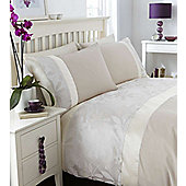 Catherine Lansfield Double Bed Duvet Cover Set Natural