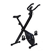 Confidence Fitness Folding Exercise X Bike Black