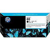 HP 80 Black Printhead and Cleaner for DesignJet 1000