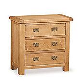 Zelah Oak 3 Drawer Chest - Rustic Oak