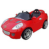Kids Electric Car Turbo Tourer 6 Volt Red