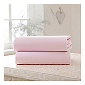 Clair De Lune Cot Bed Sheets Flat Sheets Pink