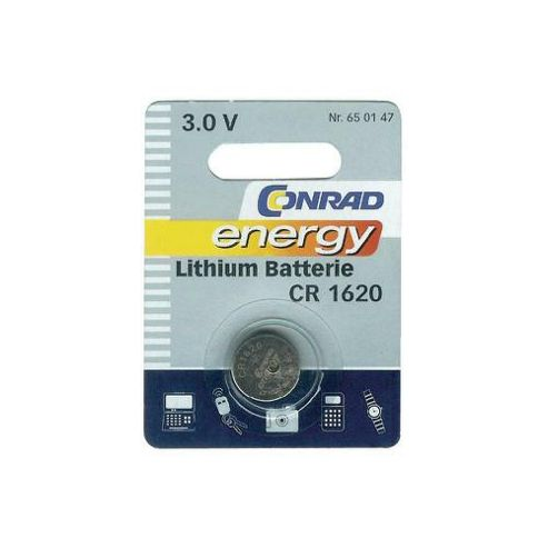 Conrad CR1620 Lithium Button Cell Battery