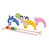 Bigjigs Toys BJ122 Farm Animal Carpet Croquet