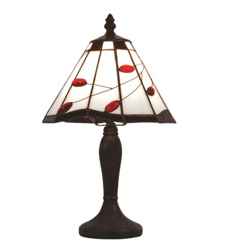 Loxton Lighting Ruby Leaf Tiffany Twig Table Lamp
