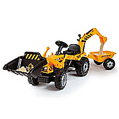 Smoby Builder Max Pedal Tractor Ride-On with Front Loader