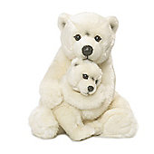 WWF Polar Bear Mother & Child Soft Toy - 28cm