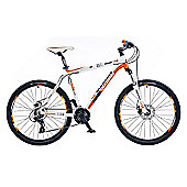"18"" Whistle Miwok 1384D Mens' Bike, White/Orange"
