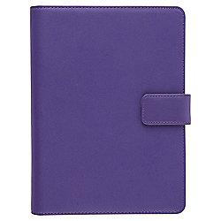 "Tesco Purple Premium Leather Universal 7"" Tablet display Case"