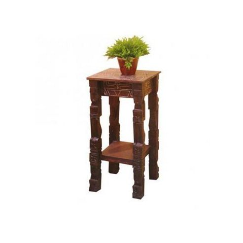 Tikamoon Zuly Totem Square Pine Console Table