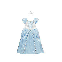 Disney Princess Cinderella Premium Dress-Up Costume years 07 - 08 Blue