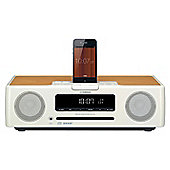 YAMAHA TSX132 DAB/DAB+/FM/CD/USB DESKTOP AUDIO SYSTEM WITH iPOD DOCK (WHITE)