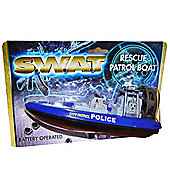 S.W.A.T Police Rescue Battery Operated Patrol Boat Bath Toy
