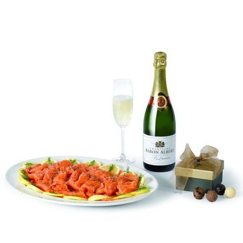 Salmon, Champagne & Truffles