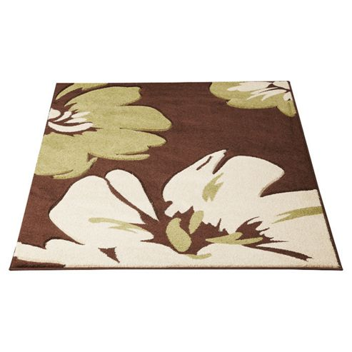 Ultimate Rug Co Rapello Amazone Chocolate / Green Contemporary Rug - 75cm x 150cm
