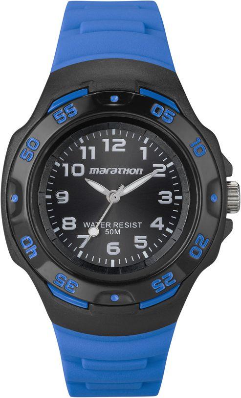 Timex Ladies Marathon Blue Watch T5K5794E