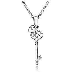 Lily & Lotty Sterling Silver 0.01ct Diamond ISABELLE Necklace