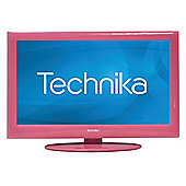 """Tesco 19-229P 19"""" HD Ready LCD TV/DVD Combi with Freeview Pink"""