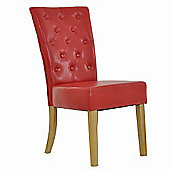 Regent Red Bicast Leather Dining Chair
