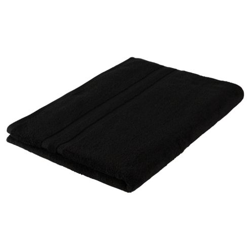 Tesco 100% Combed Cotton Bath Sheet Black