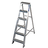 Industrial 6 Tread Swingback Step Ladder