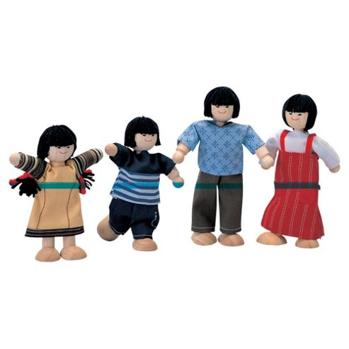 Plan Toys Asian Doll Family, Wooden Toy