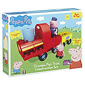Peppa Pig Construction Grandpa Pigs Train with Grandpa