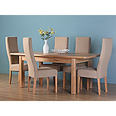 Altruna Rayleigh 7 Piece Extending Dining Table - Natural