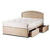Sleepsnug Backcare Divan Set - Single (3ft) - Platform Top - 2 Drawers - 1 Either Side