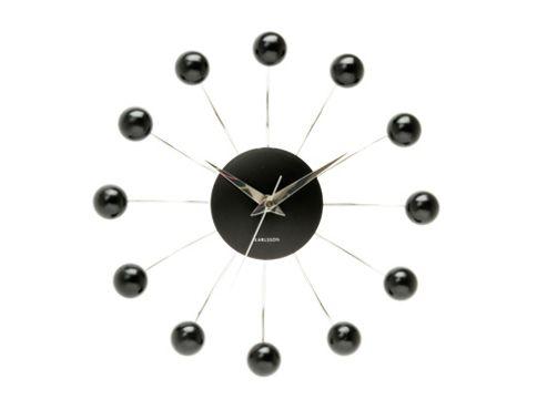 Spider clock, black