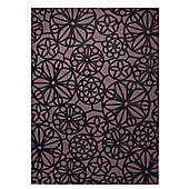 Esprit Society Black / Brown Contemporary Rectangular Rug