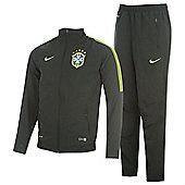 2014-15 Brazil Nike Woven Sideline Tracksuit (Black) - Black