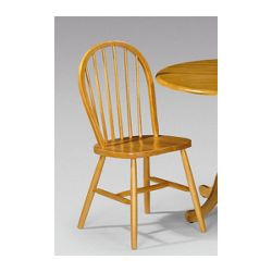 Julian Bowen Dundee Windsor Dining Chair in Honey Pine (Set of 2)