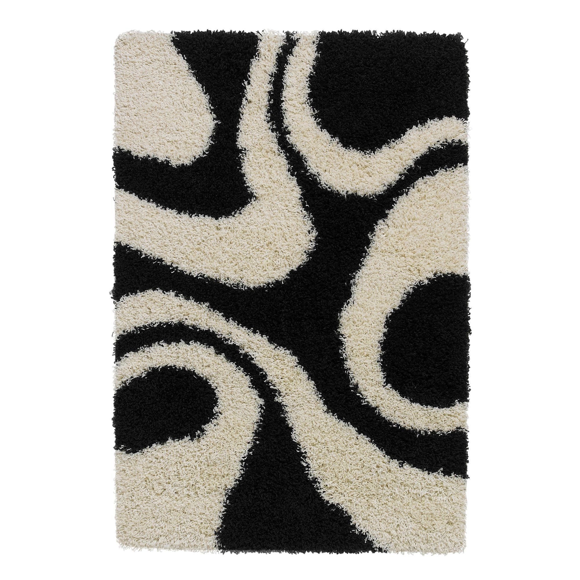 Oriental Carpets & Rugs Vista Black/White Rug - 170cm L x 120cm W