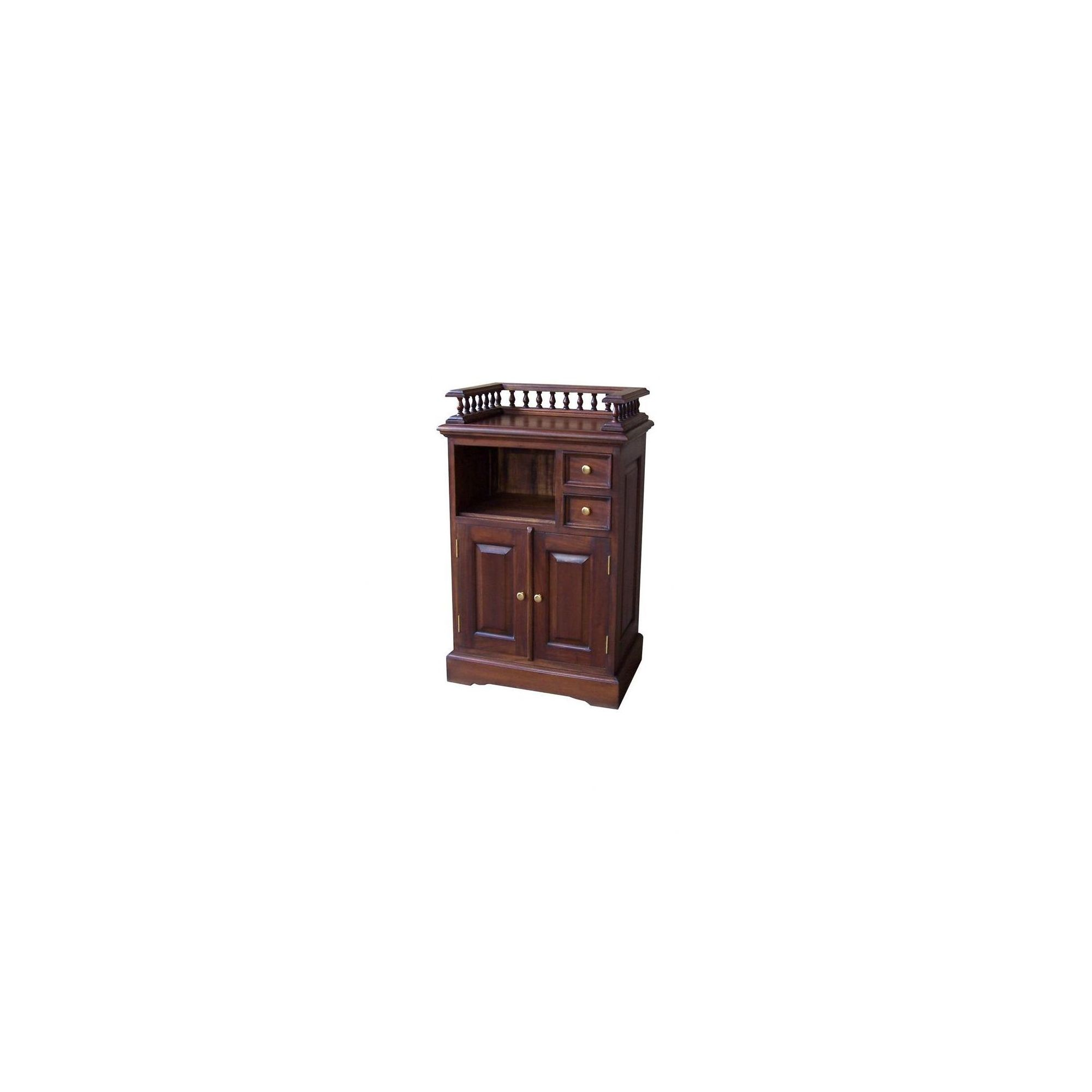 Lock stock and barrel Mahogany Telephone Stand with Gallery in Mahogany at Tesco Direct
