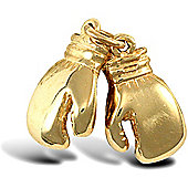 Jewelco London 9ct Solid Gold casted medium weight opening Boxing Glove Pendant finished & assemble by hand