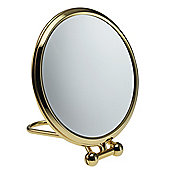 Famego Travel Standing Mirror in Gold