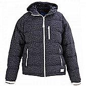 Adidas Originals Mens Short Down Hooded Jacket Navy - Navy & White