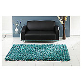 The Ultimate Rug co. Rocky Rug Teal 120x170cm